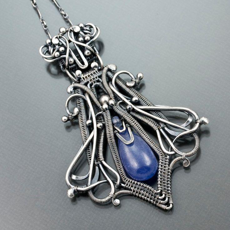 Tanzanite Necklace , Fine Silver Necklace - Veronica. $390.00, via Etsy. By Sarahndippity