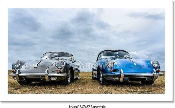 Classic Cars Porsche Art Print Canvas Print Poster Wall Home Decor Poster Prints Classic Cars Poster Wall Art