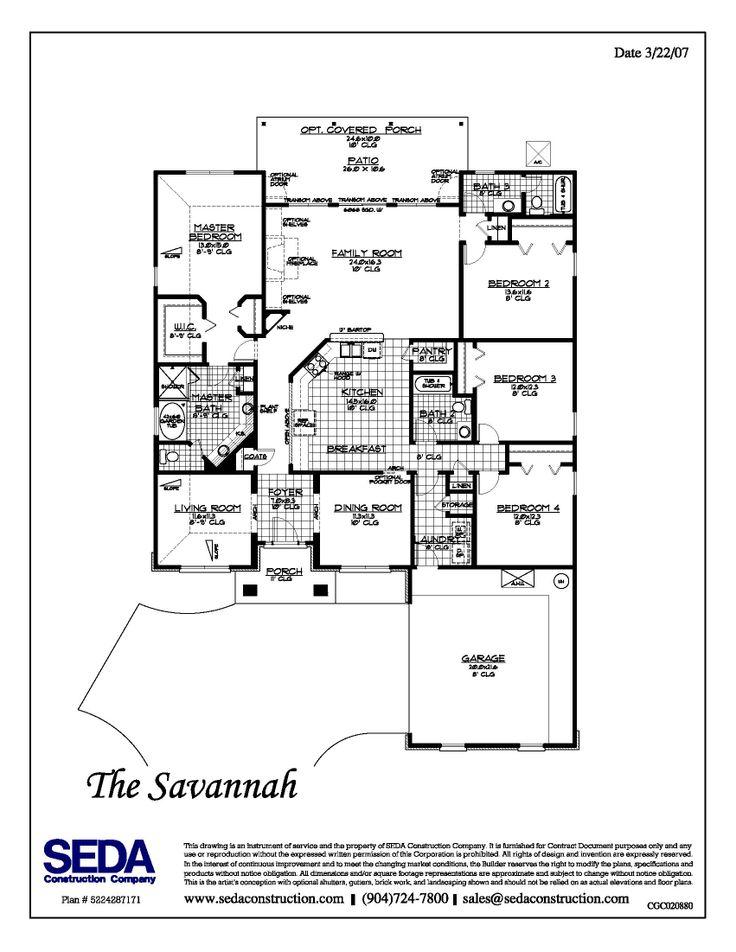 Build On My Lot In Jacksonville Orange Park St Augustine Florida 2428 Parkfloor Planshouse
