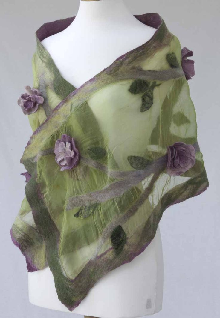 Luxury hand crafted nuno felt scarves and wraps - felt workshops - Gallery