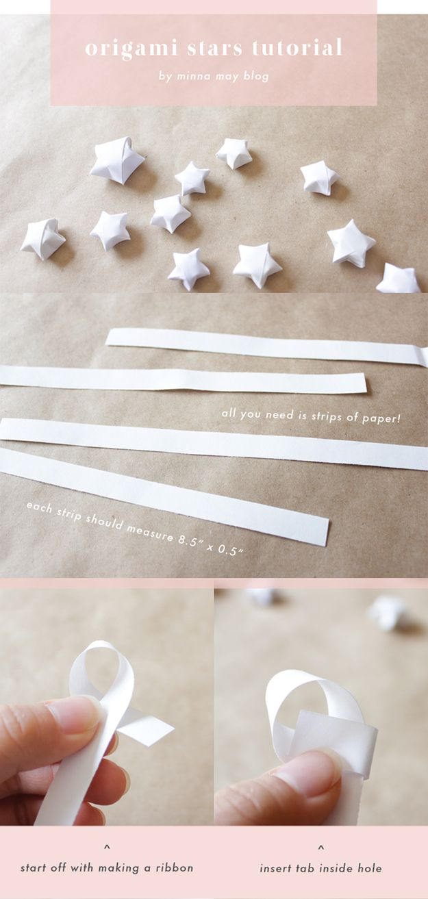 Or make easy origami stars from strips of paper.