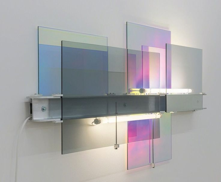 Dichroic glass aluminium universal beam fluorescent light fittings and power supply. By Nathaniel Rackowe. #NathanielRackowe # DLTD_SCENES #Magazine #DailyInspiration