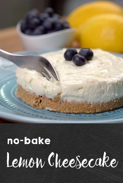 No-Bake Lemon Cheesecake Recipe | This light and creamy dessert is the perfect combination of sweet and tart. And it's a no-bake cake that is surprisingly simple to make. Click for the recipe and video! #desserts #nobakerecipes #easyrecipes #sweettreats #cheesecakes