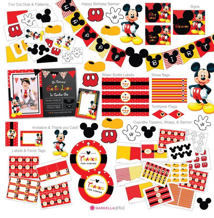 Invito a Topolino Mickey mouse invito invito di di DellaEvents