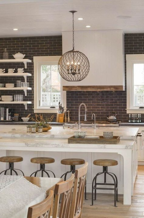 54 Awesome Modern Farmhouse Style Kitchen Makeover Decor Ideas