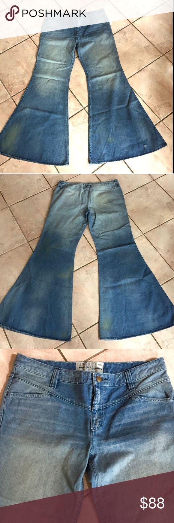 Selling this Free People Distress Relax Leg Super Flare Jean 30 on Poshmark! My username is: richbororiches. #shopmycloset #poshmark #fashion #shopping #style #forsale #Free People #Denim