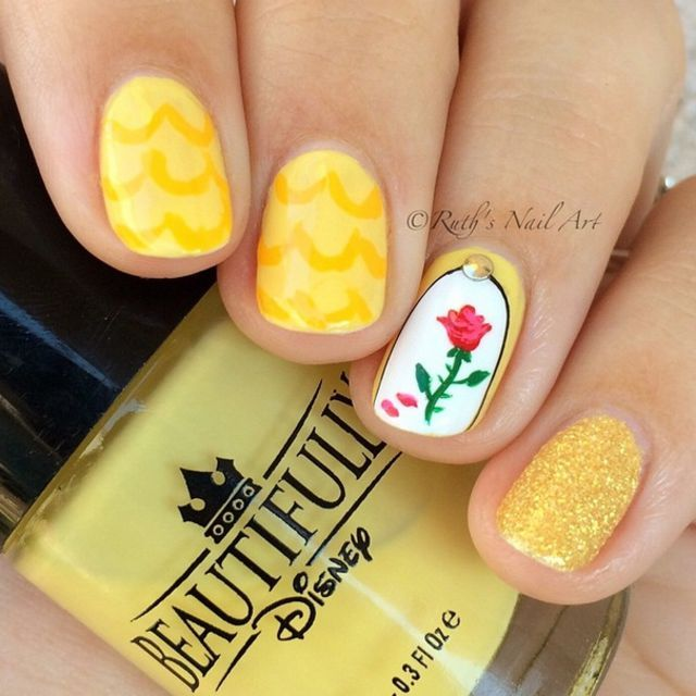These 21 Disney Nail Art Ideas Will Make You Want To Get A Magical Manicure Yesterday