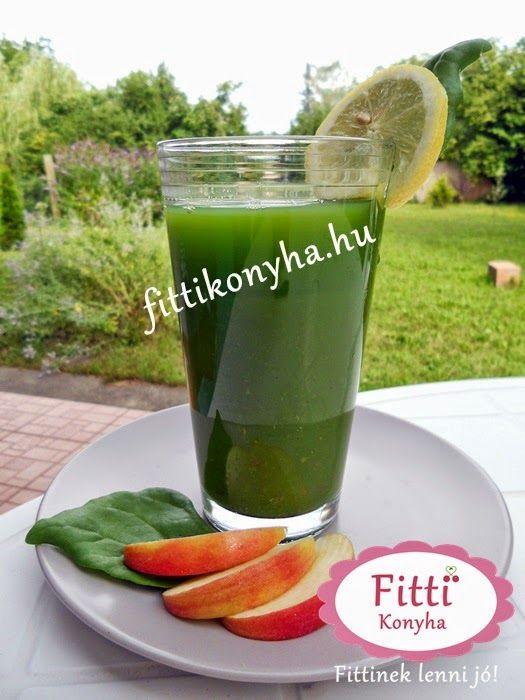 Fitti Konyha: Zöld turmix recept almából és spenótból