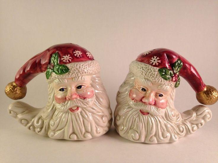 Vintage Santa Christmas Salt & Pepper Shakers