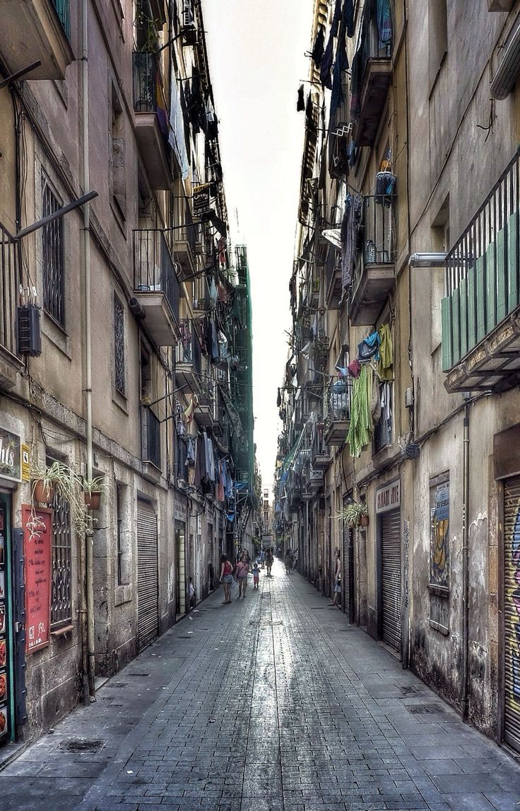 Raval, Barcelona. We stayed in this area of Barcelona, about 1/2 block from Las Ramblas.