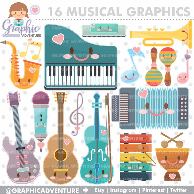 75%OFF - Musical Clipart, Musical Graphics, COMMERCIAL USE, Kawaii Clipart, Music Graphics, Music Clipart, Planner Accessories, Music Party