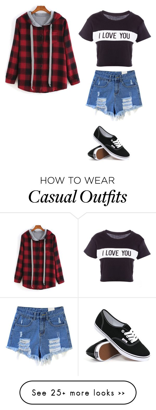 """""""Casual"""" by sweet-chick33 on Polyvore featuring Lovers + Friends and Vans"""