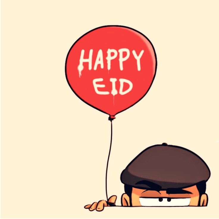 Happy #Eid by Khalid al Dakheel - 2015 | #artwork #sketch #drawing #illustration #cartoon