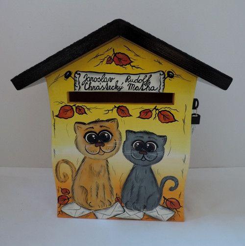 Poštovní schránka domeček -kočičky