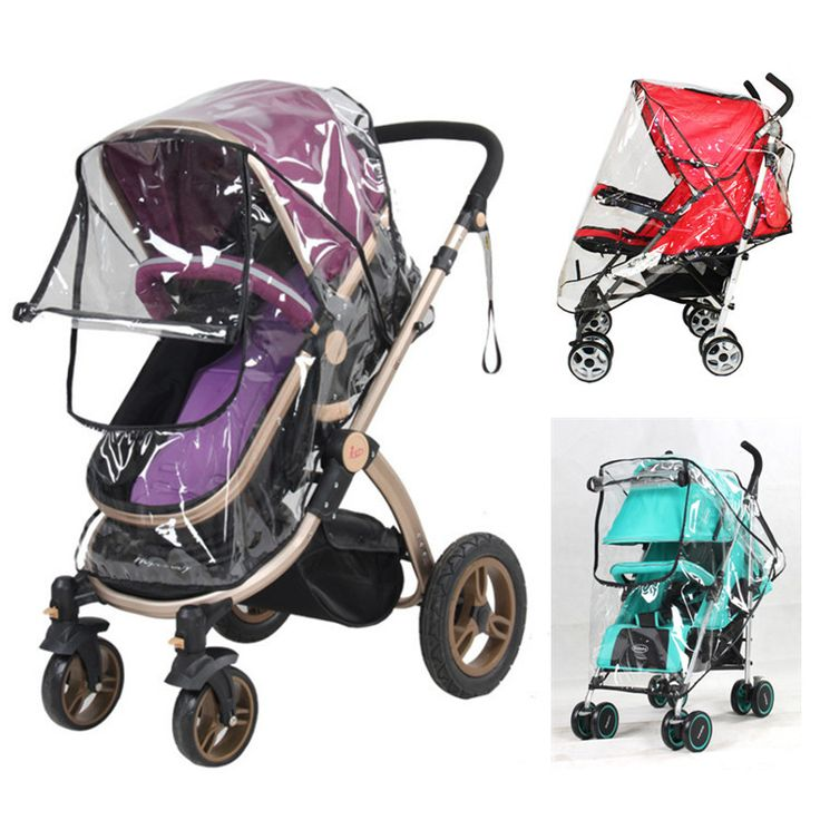 Baby stroller rain cover  PVC Universal Wind Dust Shield with windows For Strollers Pushchairs stroller accessories
