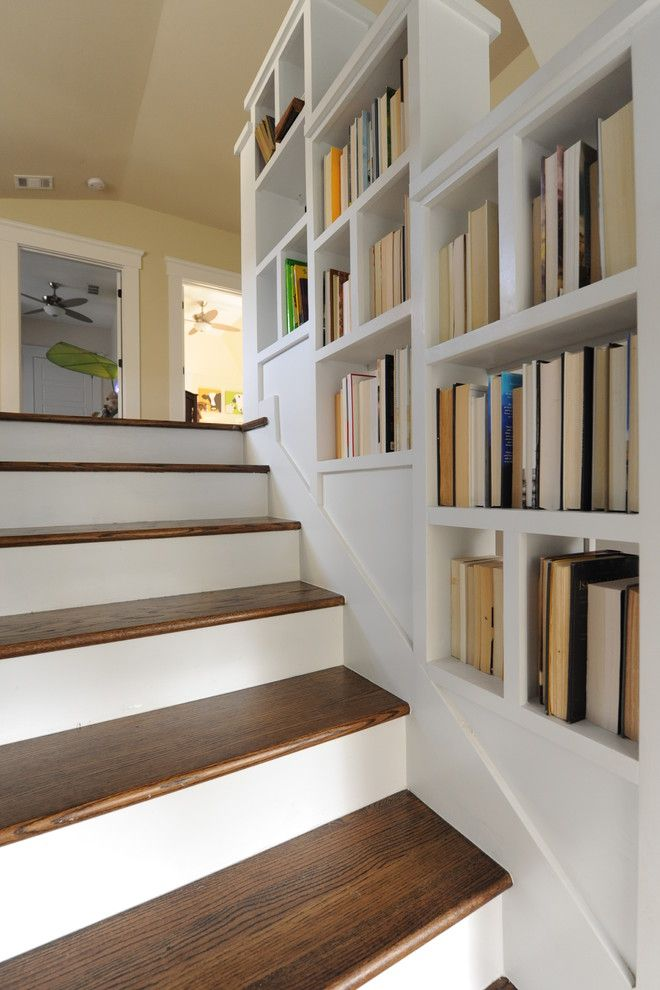 The Best Stair Step Bookcase Combos To Be In Awe Of Bookcase Stairs Stair Shelves Staircase Shelves