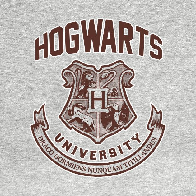 Check out this awesome 'Hogwarts University' design on @TeePublic!