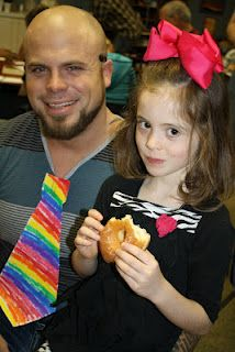 Donuts for Dads - have the kids make a special tie for each dad and donuts!