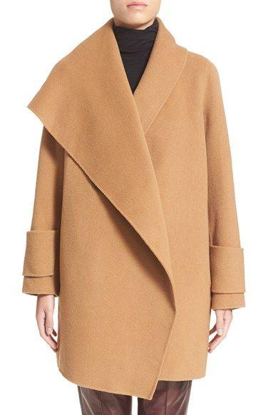 Women's Vince Drape Front Wool Coat (Nordstrom Exclusive)