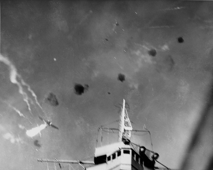 Japanese Aichi D3A dive bomber shot over USS Enterprise (CV-6) on 24 August 1942 (80-G-31349) - Battle of the Eastern Solomons - Wikipedia
