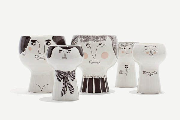 From Scandinavia with love - design & style (Flower Me Happy pots by Danish Meyer-Lavigne.)
