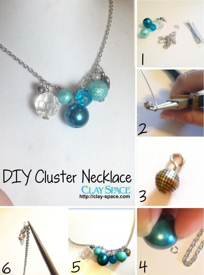 DIY Jewelry DIY Necklace DIY Cluster Necklace