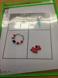 Base 10 Binder Rings for tens and ones!  -Compassionate Teacher