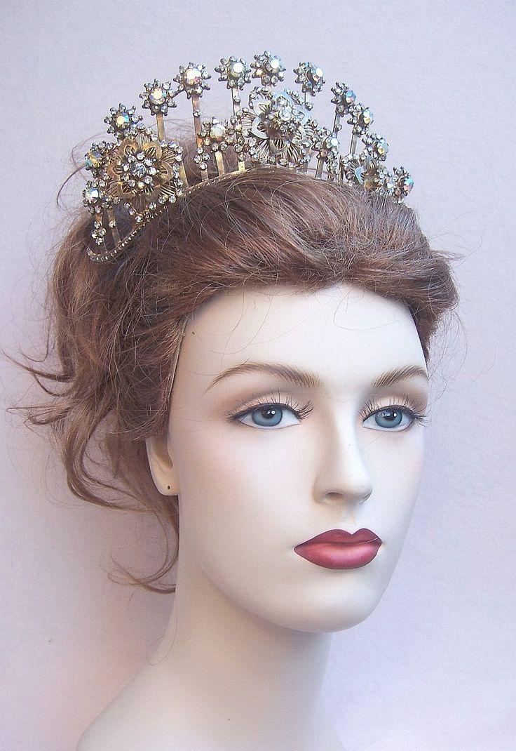 Vintage tiara comb Sumatra Indonesia wedding headdress crown headpiece (AAS) Elronds Emporium on Etsy