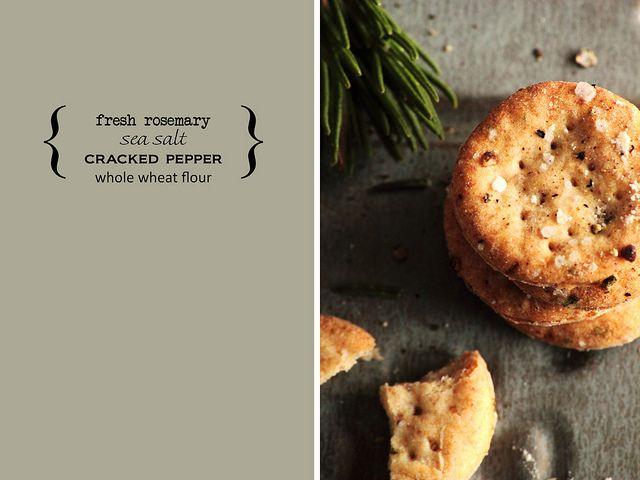 Rosemary Sea Salt Crackers by pastryaffair, via Flickr