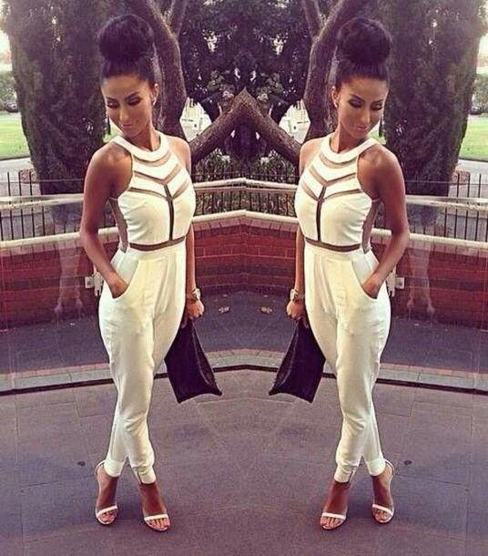 Milenka Mesh Panel Sleeveless Jumpsuit //Price: $65.74 & FREE Shipping //     #hashtag1