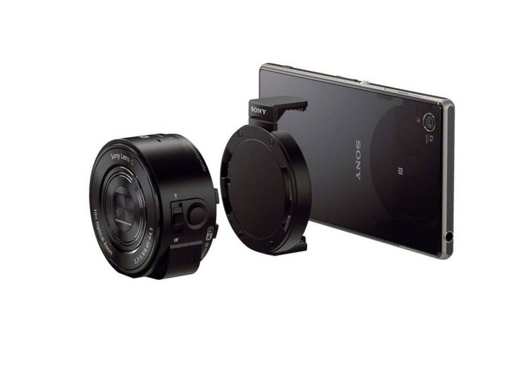QX10 Aparat w obiektywie - Bezprzewodowy, przeznaczony do współpracy ze smartfonami aparat w obiektywie Smart-shot z 18-megapikselowym przetwornikiem CMOS Exmor R™ i zoomem optycznym 10x