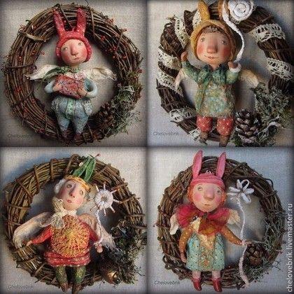 Елочные прибамбасы - елочные игрушки из ваты,елочное украшение,новогодний подарок