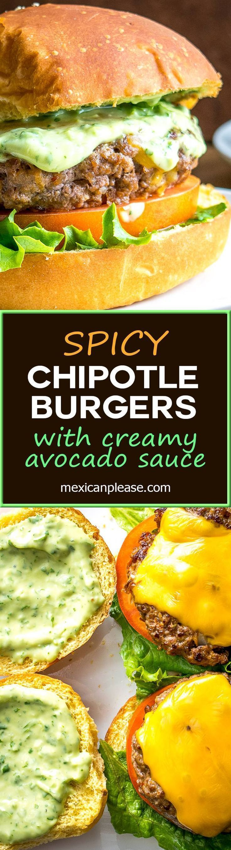 Spicing up your cheeseburgers with chipotles might convert you over for life.  And when drenched in a creamy avocado sauce you just made the best burger in town.  So good!  http://mexicanplease.com