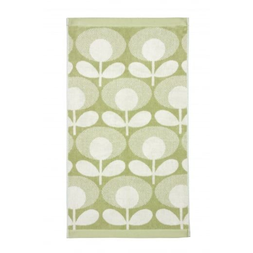 Orla Kiely Speckled Flower Oval Pistachio Towels