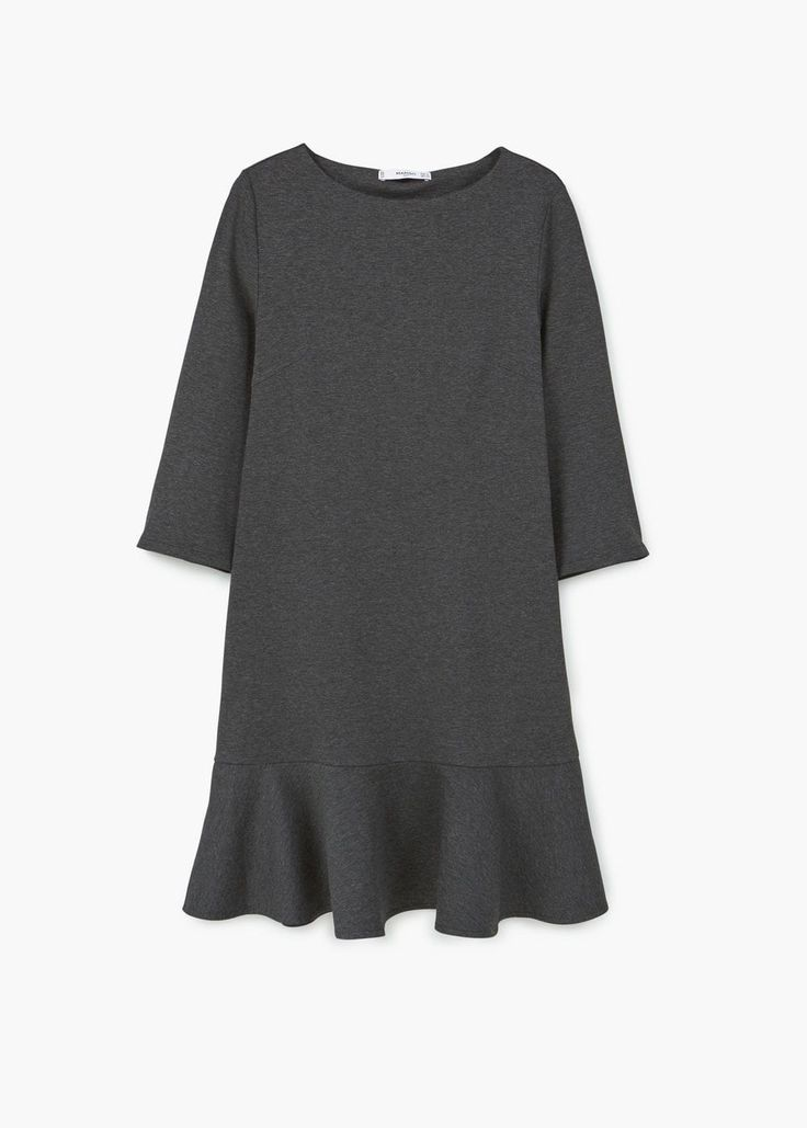 Платье с воланом внизу | MANGO МАНГО