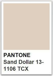 PANTONE 13 1106 Sand Dollar / Color of the year 2006