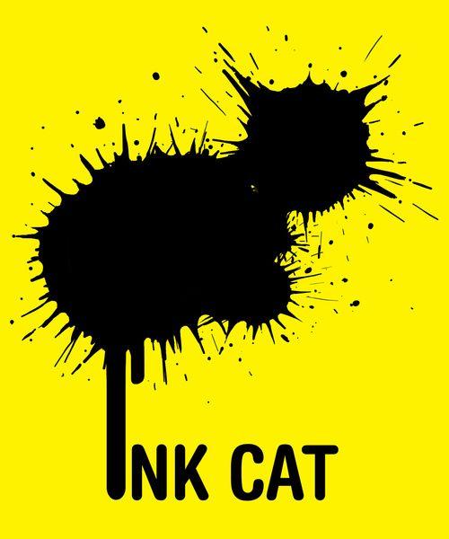 Logo / INK CAT Ink Logo Design Sample Made By LogoPeople Australia #Logo #Design #InkLogo