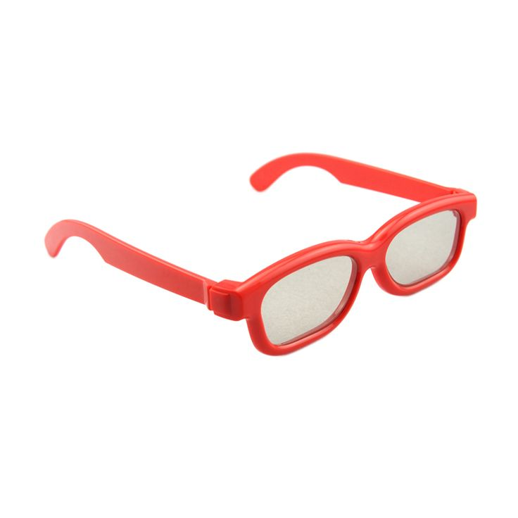 Red Children Polarized Passive 3D Glasses for LG and Panasonic Passive 3D Televisions