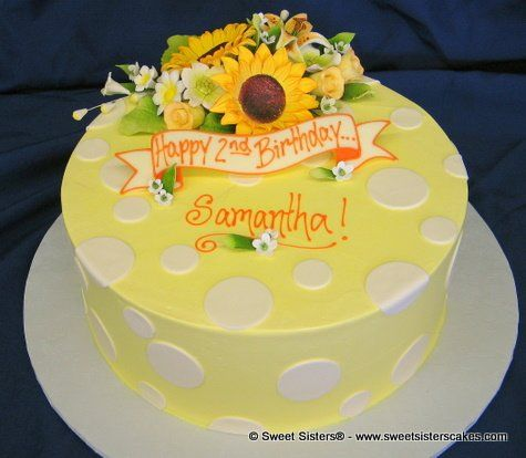 This cake is just right for the girl with the sunny personality!