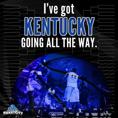 PIN if you have Kentucky going all the way! #MarchMadness http://www.ticketcity.com/college-basketball-tickets/ncaa-tournament-tickets.htm