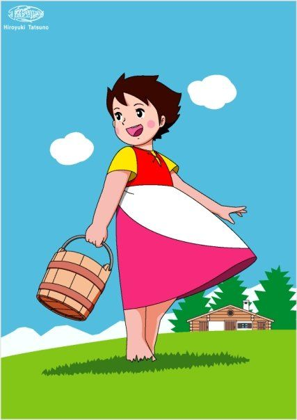 heidi with basket http://heidicartoon.blogspot.in