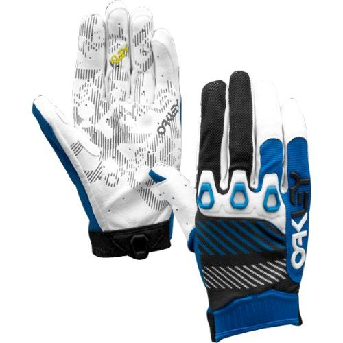Oakley Automatic 2 Men's Off-Road Motorcycle, Mountain Bike and BMX Gloves - Blue Line / Medium -- Click image for more details.