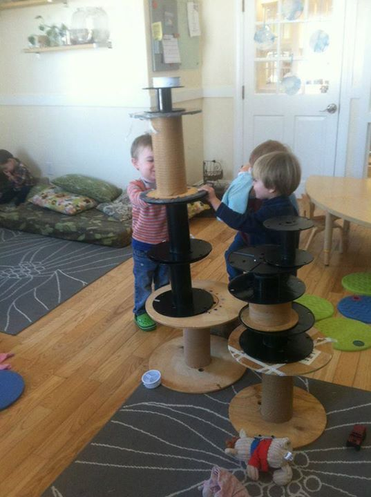 Cable reels. Thanks to Let the Children Play for the photo!                                           Gloucestershire Resource Centre http://www.grcltd.org/scrapstore/