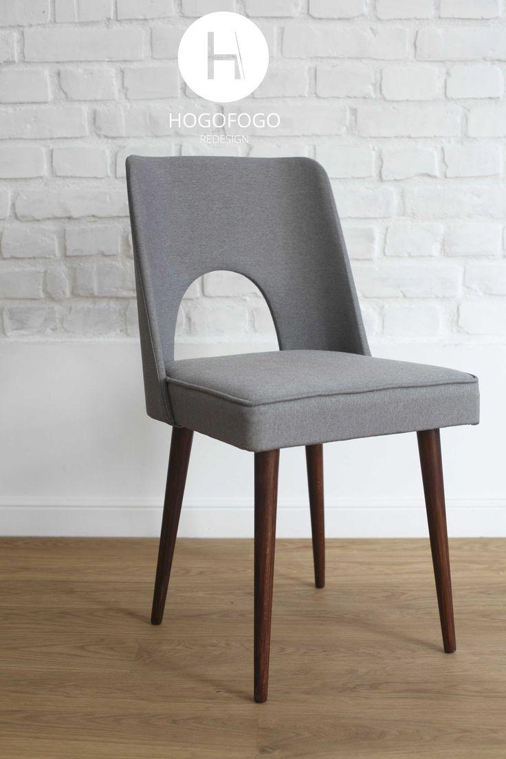 Krzesło z Bydgoskich Fabryk Mebli odnowione przez # hogofogo redesign
