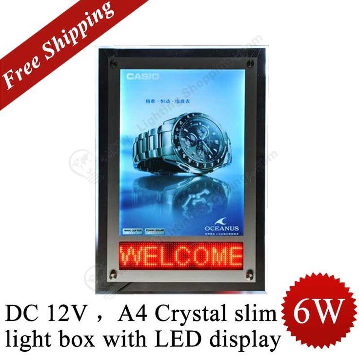 #Mini #Lighting #Box >>> 6W, DC12V, A4 Crystal slim light box, Mini #LED #Display  See more at: http://www.lightingshopping.com/dc-12v-6w-a4-crystal-slim-light-box-with-led-display.html