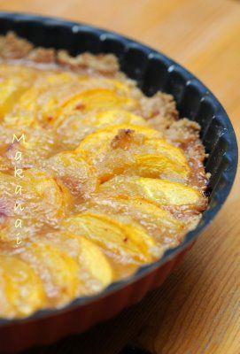 Une tarte aux pêches fondante et sablée, juste ... parfaite! - Makanai