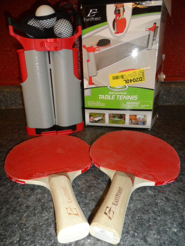 TABLE TENNIS WITH PADDLES AND BALLS. EASTPOINT. NEW IN PACKAGE #EASTPOINT