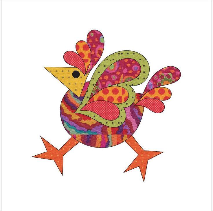 Applique Add On's - Funky Chicken by urbanelementz - Craftsy