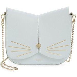 Women's Ted Baker London Cat Leather Crossbody Bag