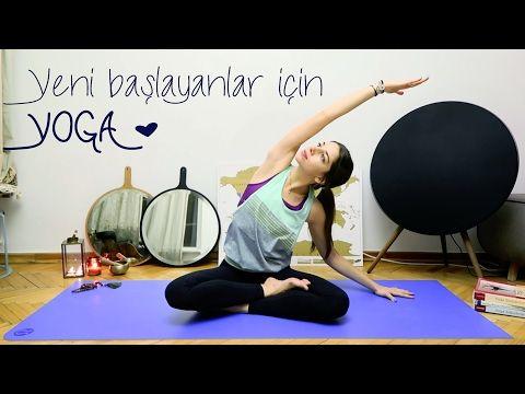 YOGA ♥ Yeni Başlayanların Evde Yapabileceği Başlangıç Seviye Dersi - YouTube